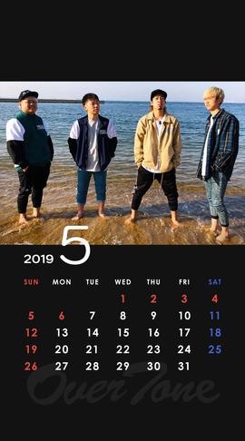2019年5月待受カレンダー