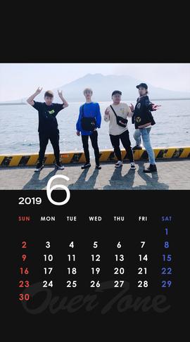 2019年6月待受カレンダー