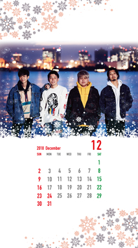 12月待受カレンダー